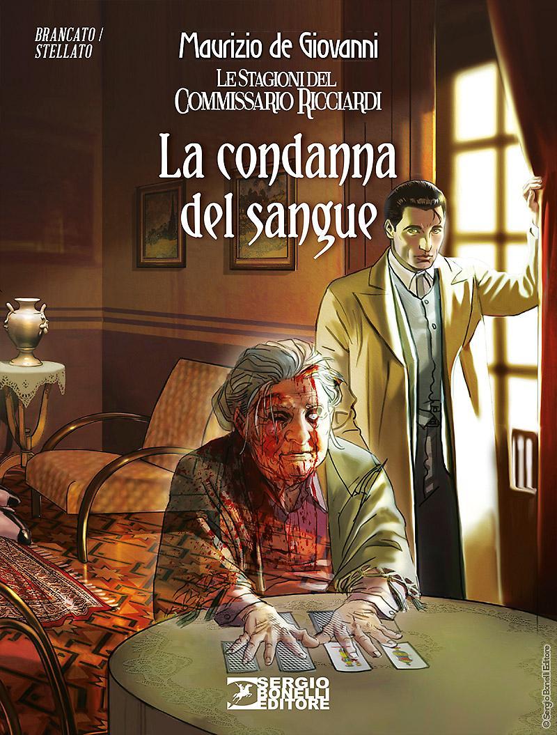 Il Commissario Ricciardi: La condanna del sangue, copertina di Daniele Bigliardo