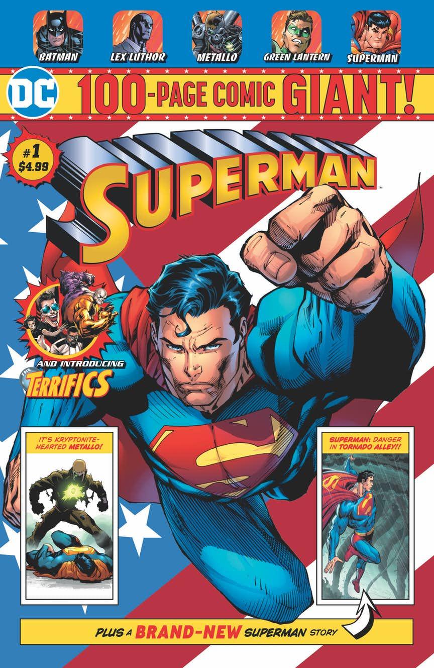 Superman Giant #1, copertina di Jim Lee