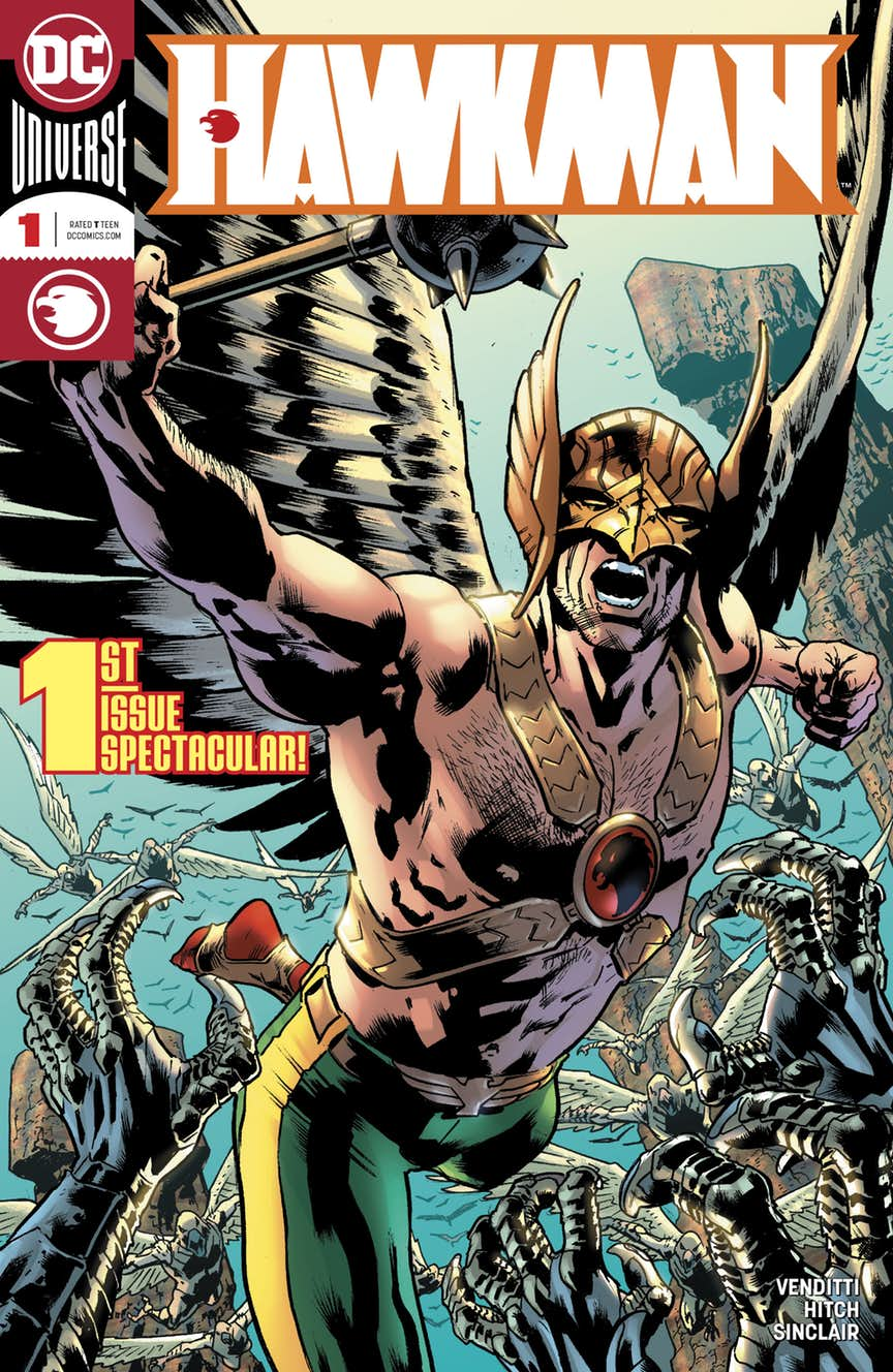 Hawkman #1, copertina di Bryan Hitch