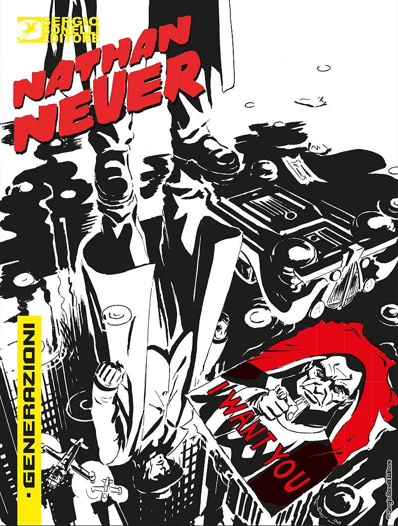 Nathan Never – Generazioni 1: Hell City Blues, copertina di Alessandro Russo