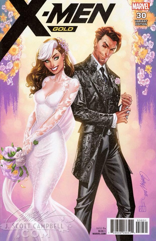X-Men: Gold #30, variant cover di J. Scott Campbell