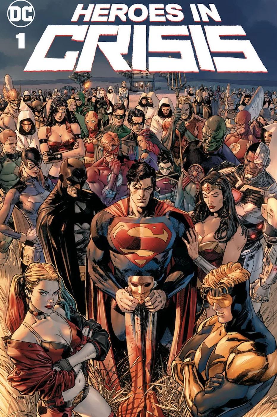 Heroes in Crisis #1, copertina di Clay Mann