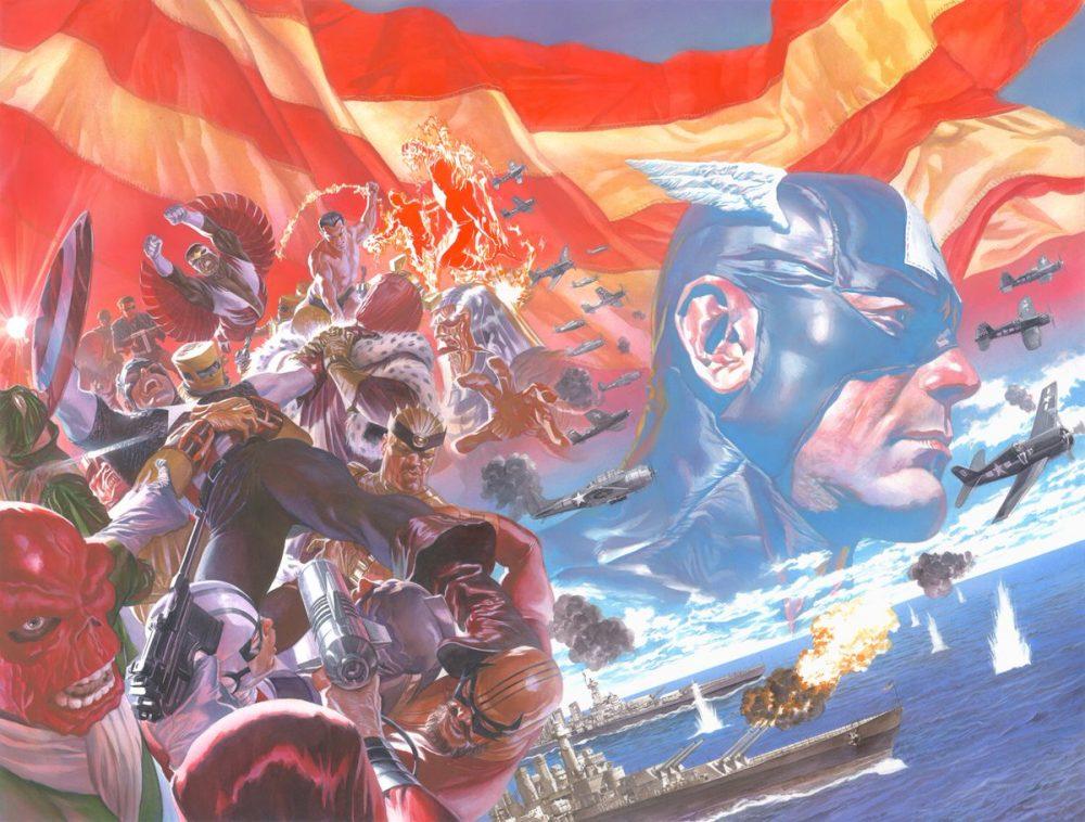 Captain America #1, copertina di Alex Ross
