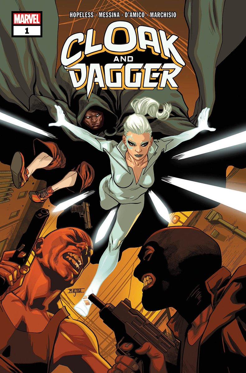Cloak & Dagger #1, copertina di Mahmud Asrar