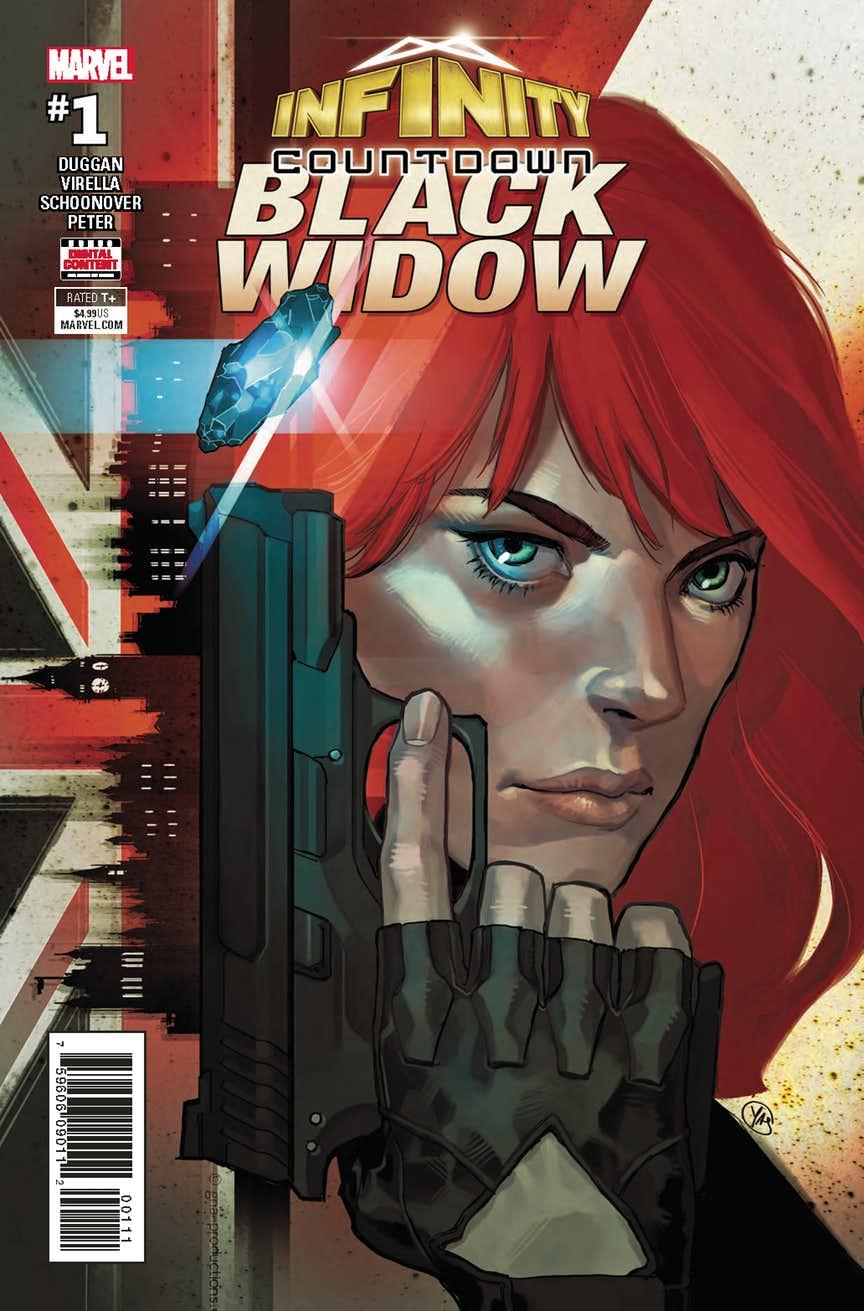 Infinity Countdown Black Widow, copertina di Yasmine Putri