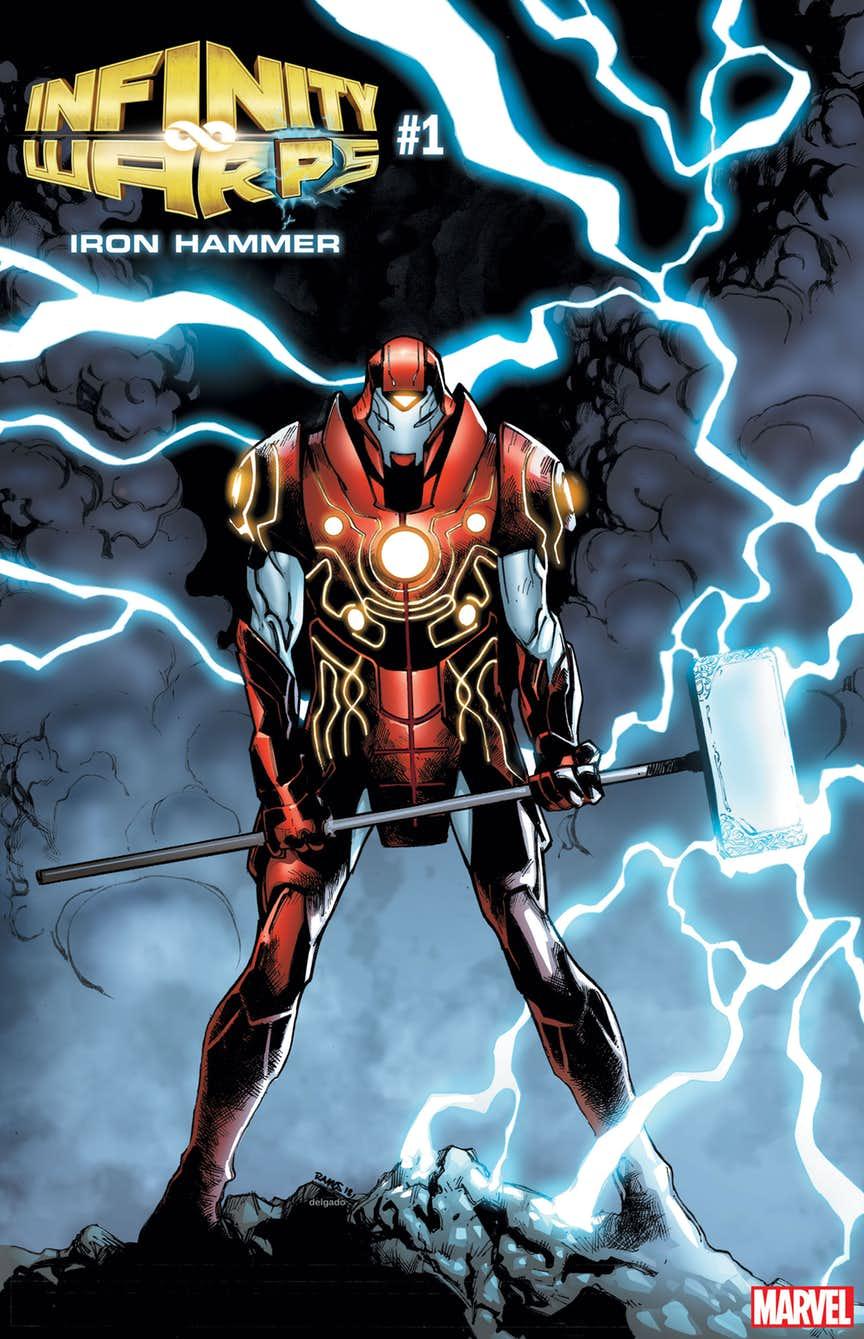 Infinity Wars: Iron Hammer#1, copertina di Humberto Ramos