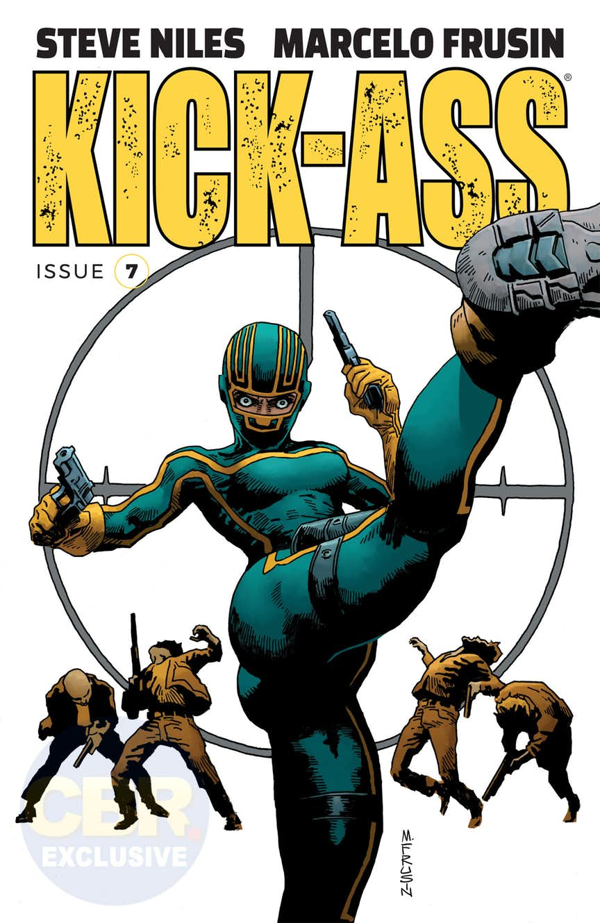 Kick-Ass #7, copertina di Marelo Frusin