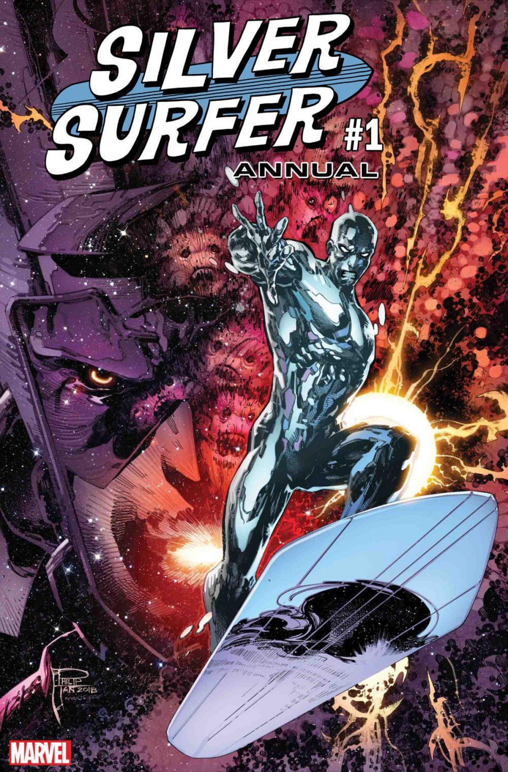 Silver Surfer Annual #1, copertina di Philip Tan
