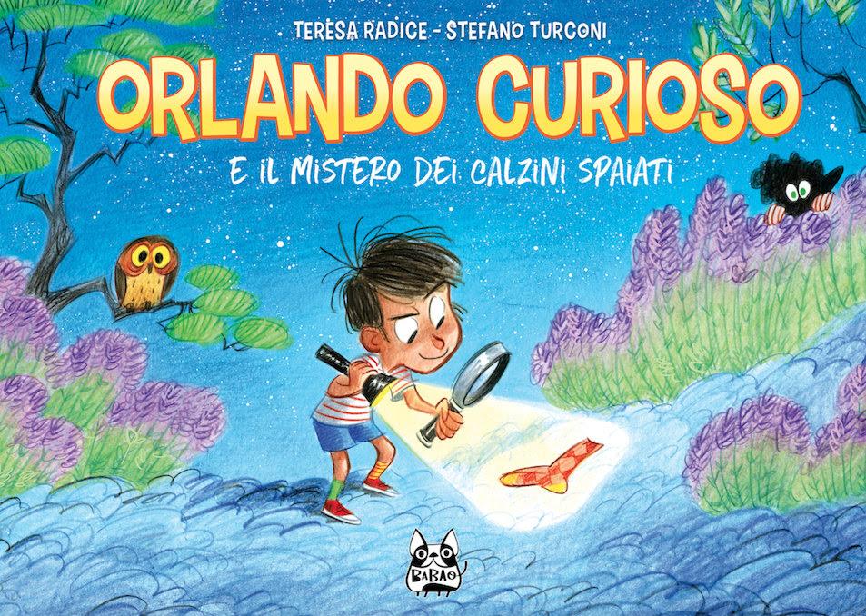 Orlando Curioso e il mistero dei calzini spaiati, copertina di Stefano Turconi
