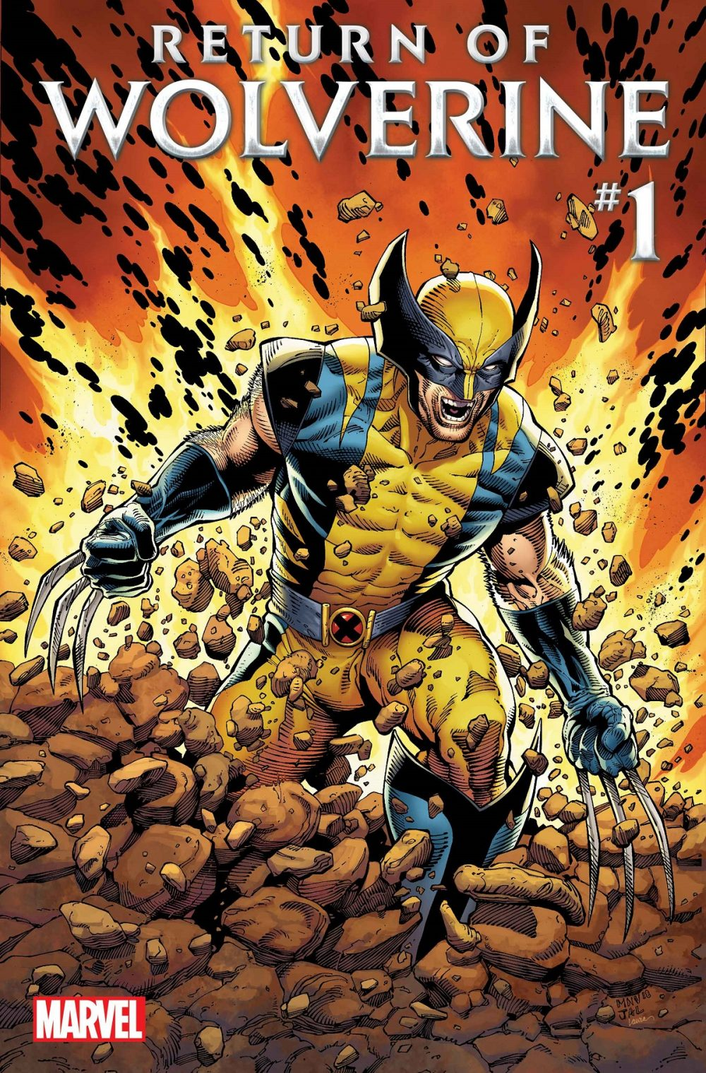 Wolverine #1, copertina di Steve McNiven