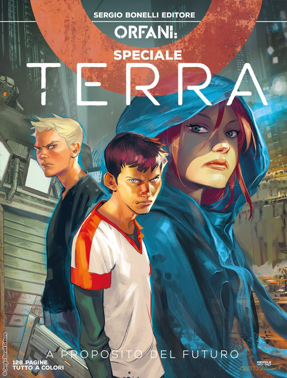 Orfani Speciale - Terra 1:A proposito del futuro, copertina di Emiliano Mammucari