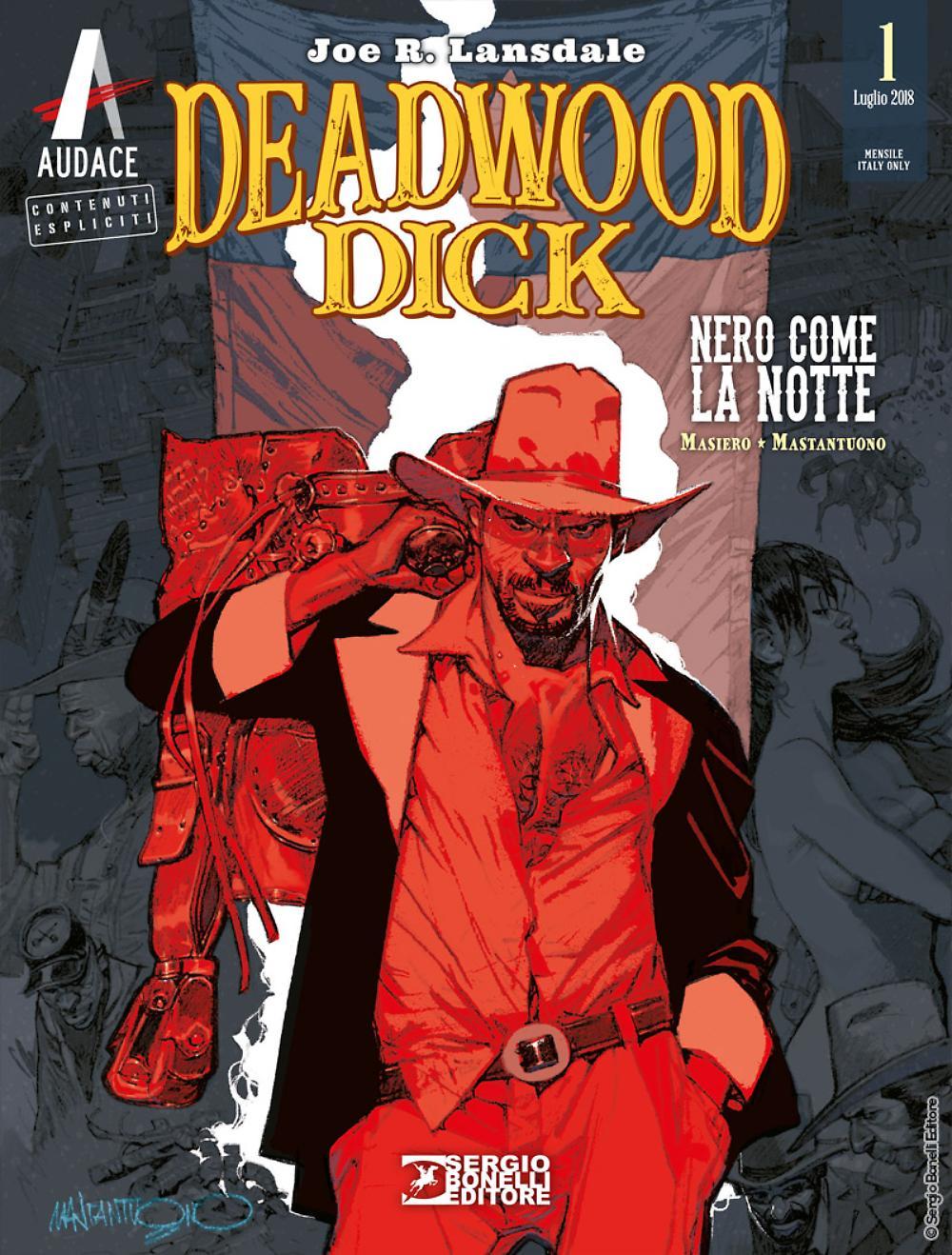 Deadwood Dick 1: Nero come la notte, copertina di Corrado Mastantuono