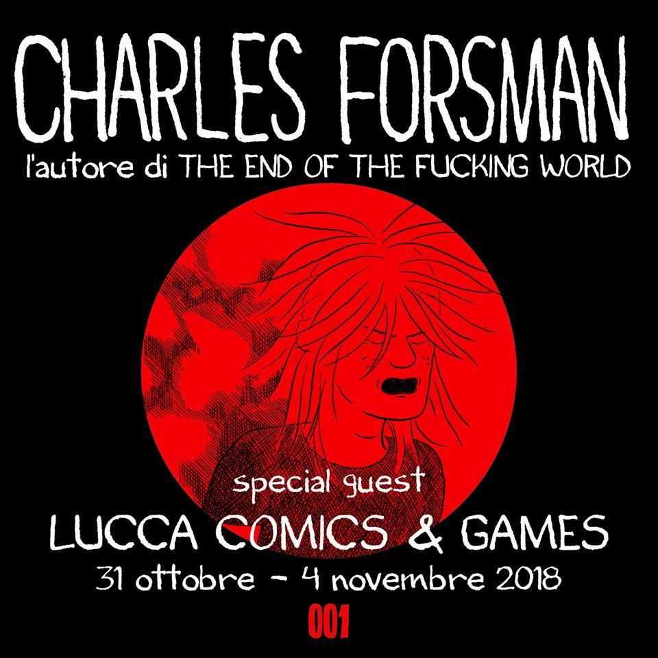 Charles Forsman a Lucca Comics & Games 2018