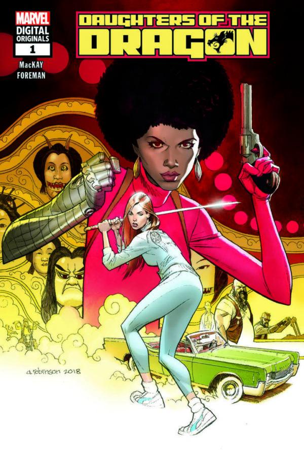 Daughters of the Dragon (MDO) #1, copertina di Andrew Robinson