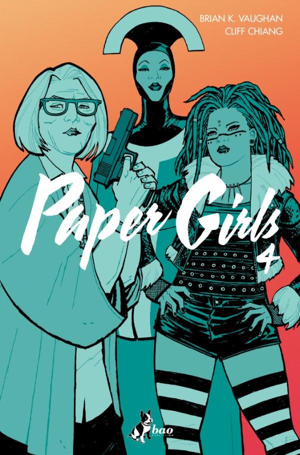 Paper Girls vol. 4, copertina di Cliff Chiang