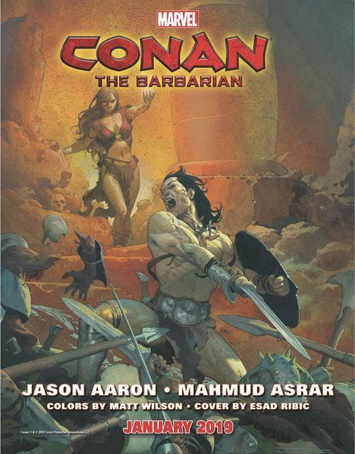 Conan the Barbarian #1, copertina di Esad Ribic