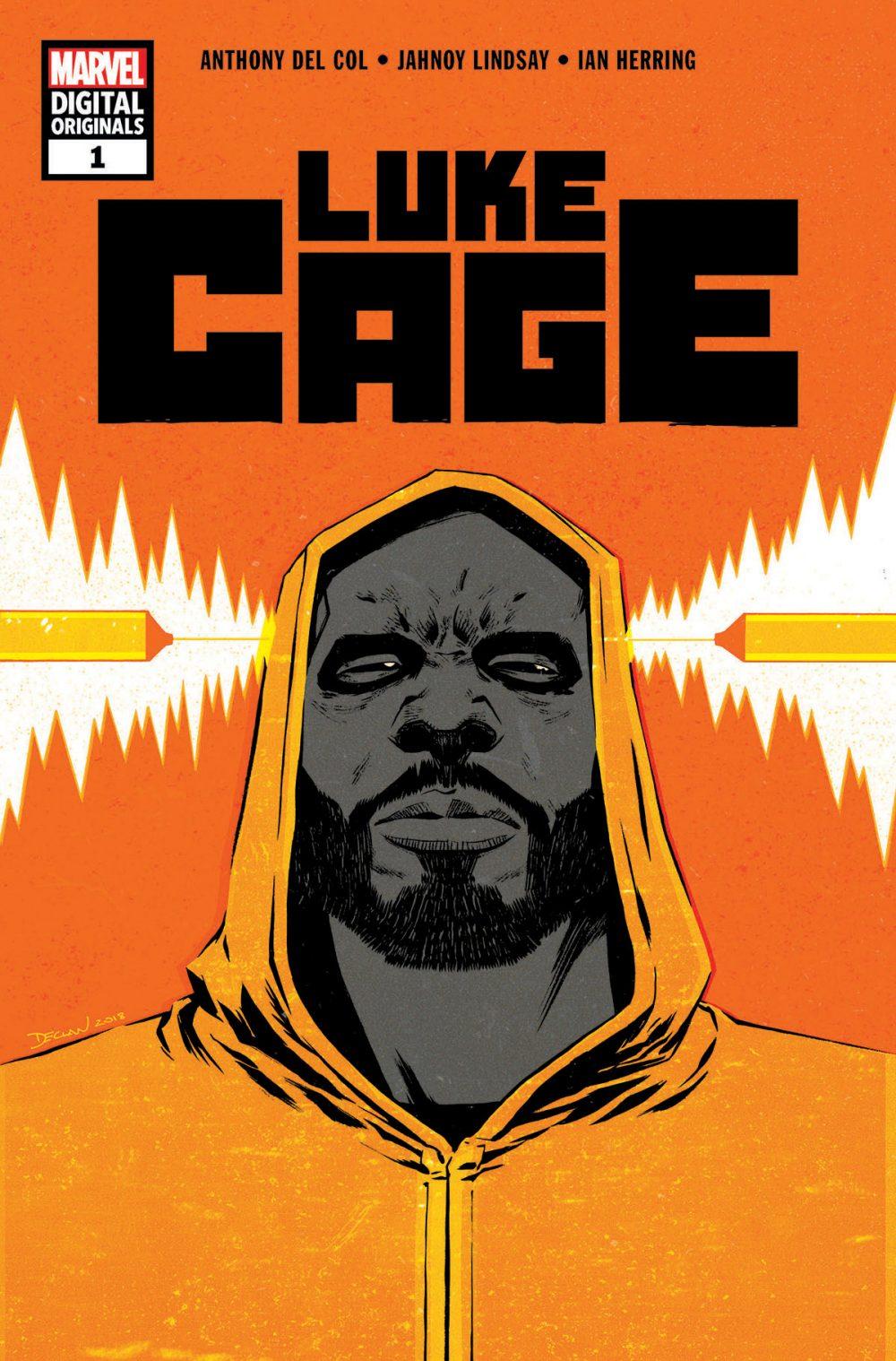 Luke Cage #1, copertina di Declan Shalvey