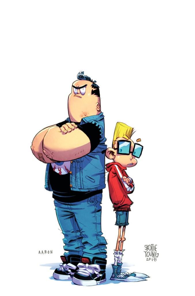Bully Wars #1, immagine promo di Skottie Young e Aaron Conley