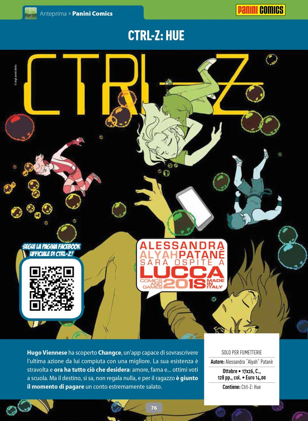 CTRL-Z: Hue su Anteprima