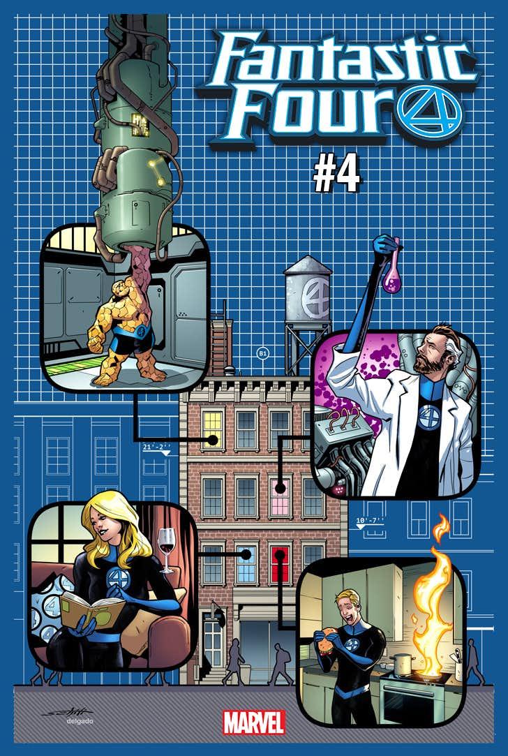 Fantastic Four #4, variant cover di Valerio Schiti