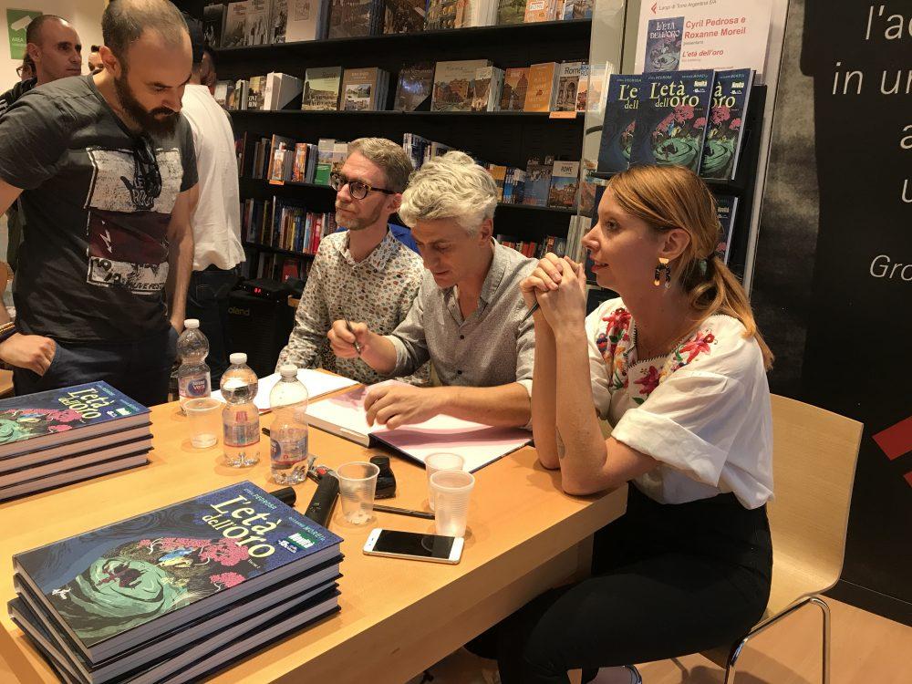 L'età dell'oro, Cyril Pedrosa e Roxanne Morei alla libreria Feltrinelli
