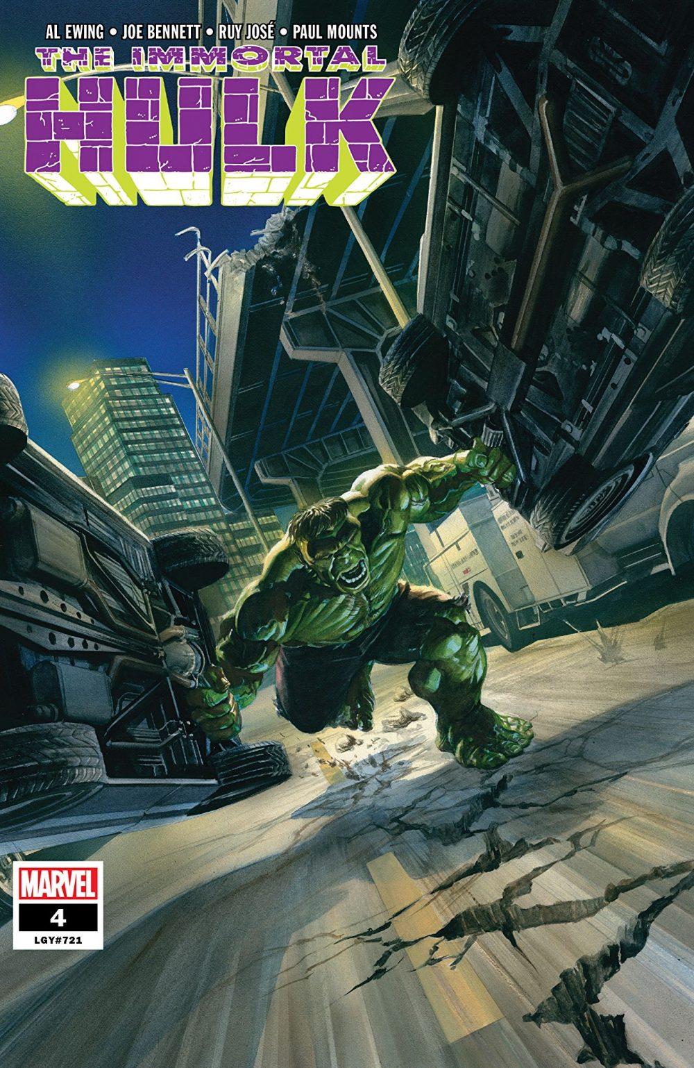 Immortal Hulk #4, copertina di Alex Ross