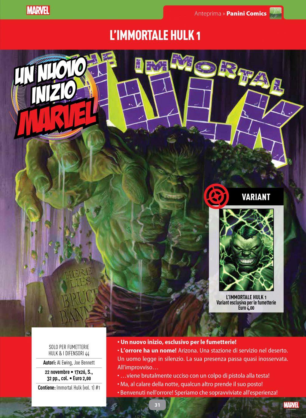 L'Immortale Hulk su Anteprima
