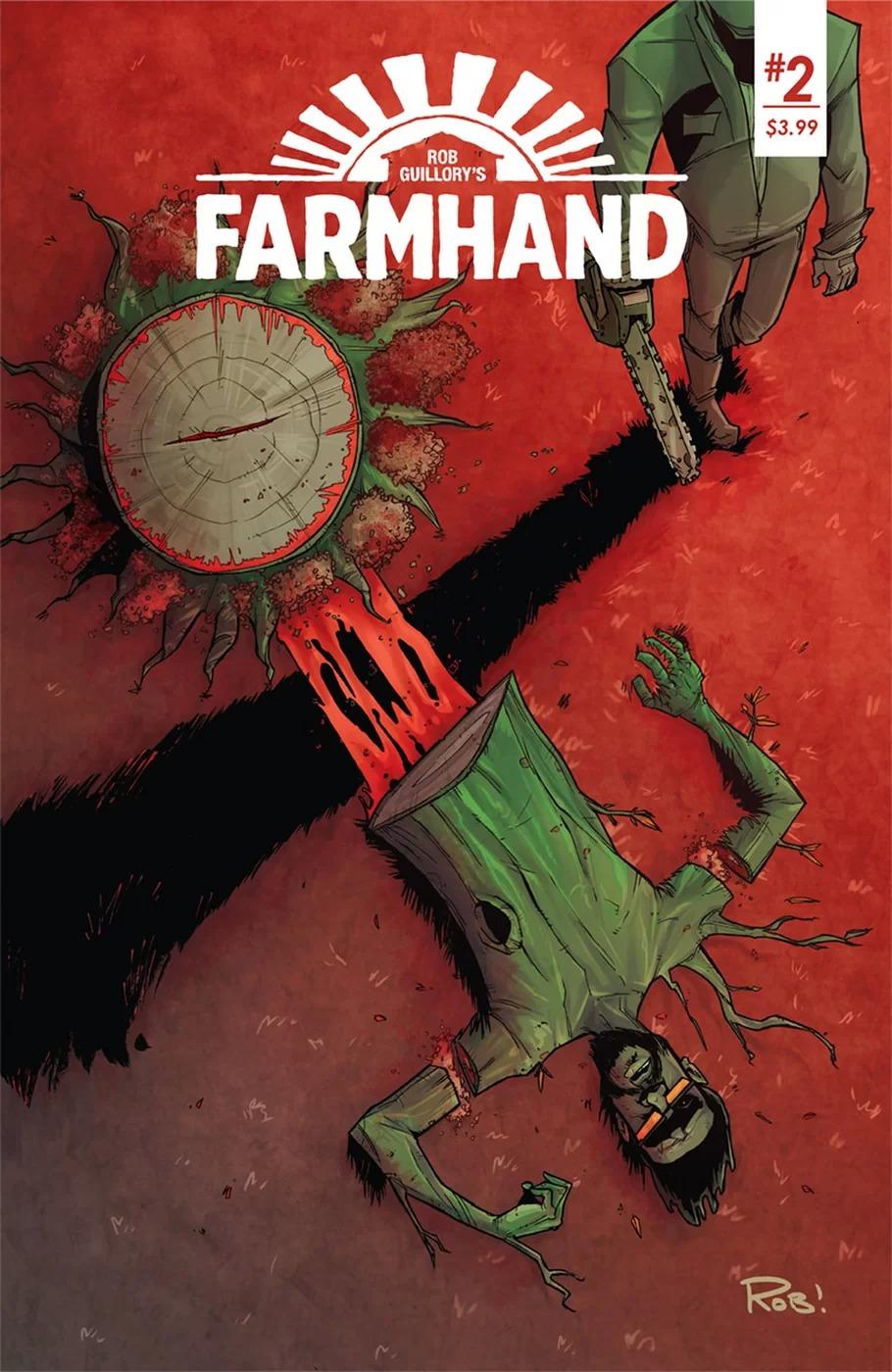 Farmhand #2, copertina di Rob Guillory