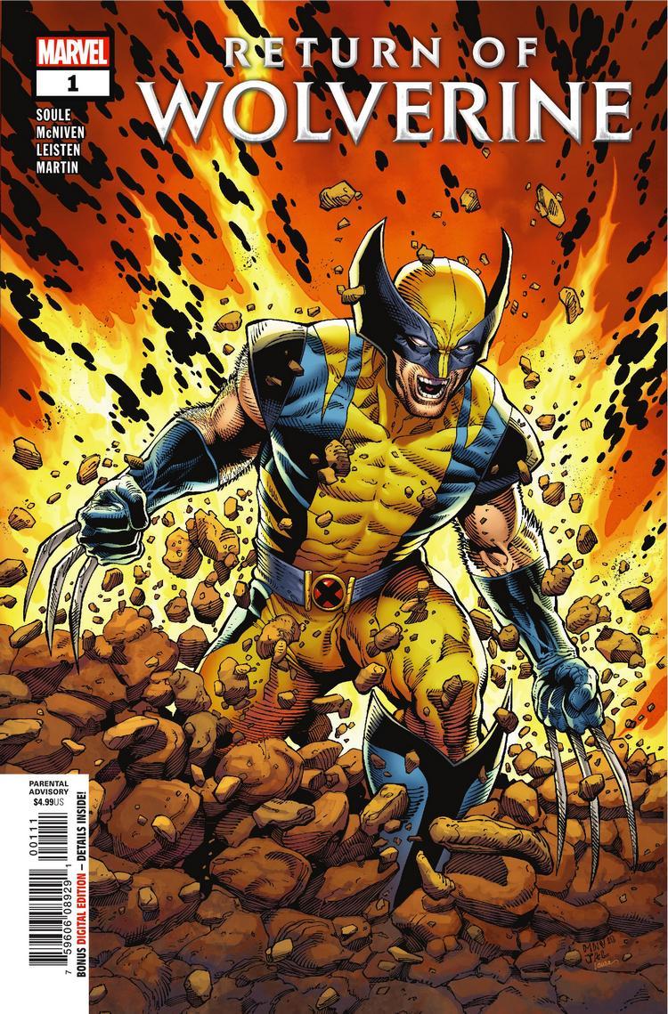 Return of Wolverine #1, copertina di Steve McNiven