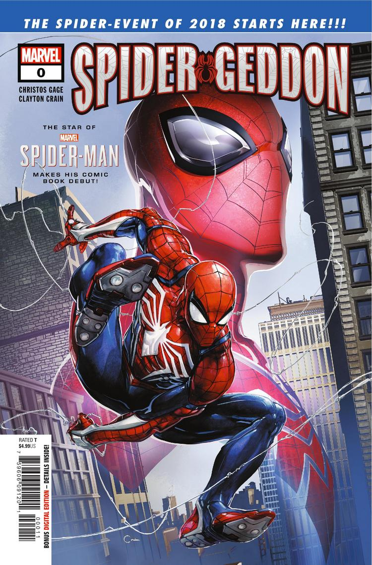 Spider-Geddon #0, copertina di Clayton Crain