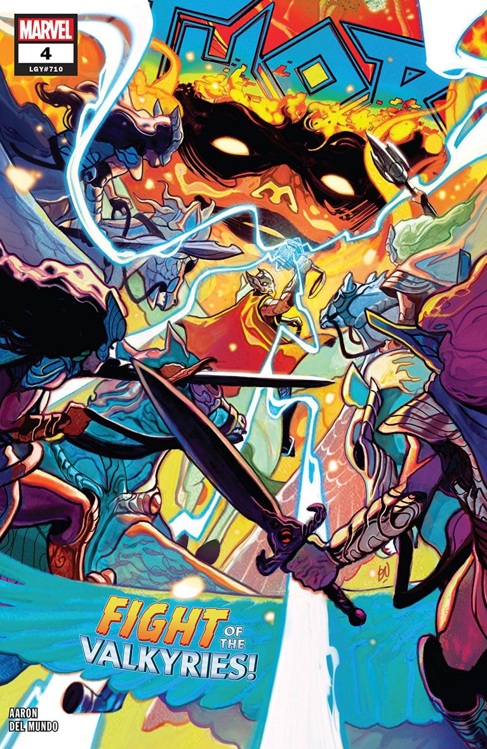 Thor #4, copertina di Mike Del Mundo