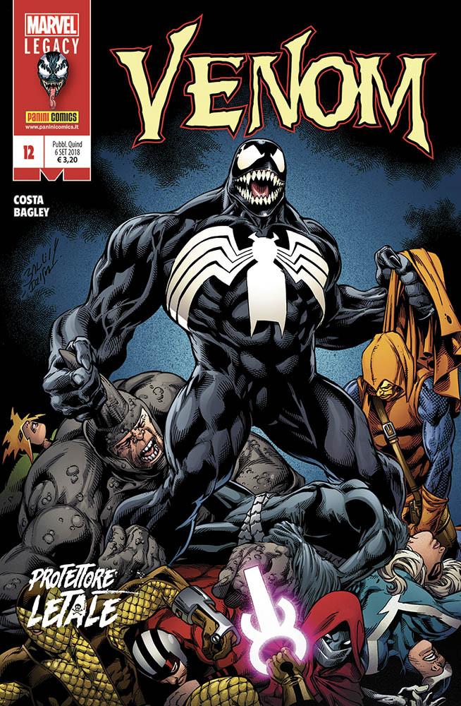 Venom 12, copertina di Mark Bagley