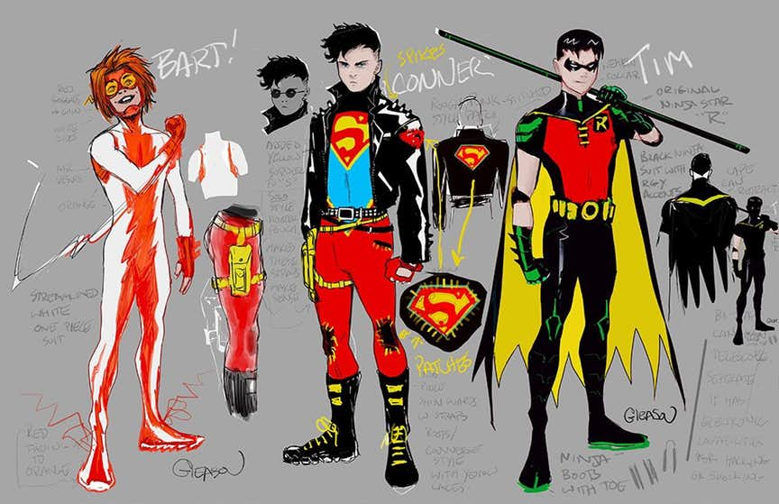 Young Justice, design