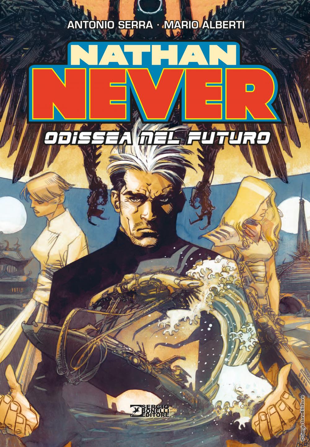 Nathan Never: Odissea nel futuro, copertina di Mario Alberti