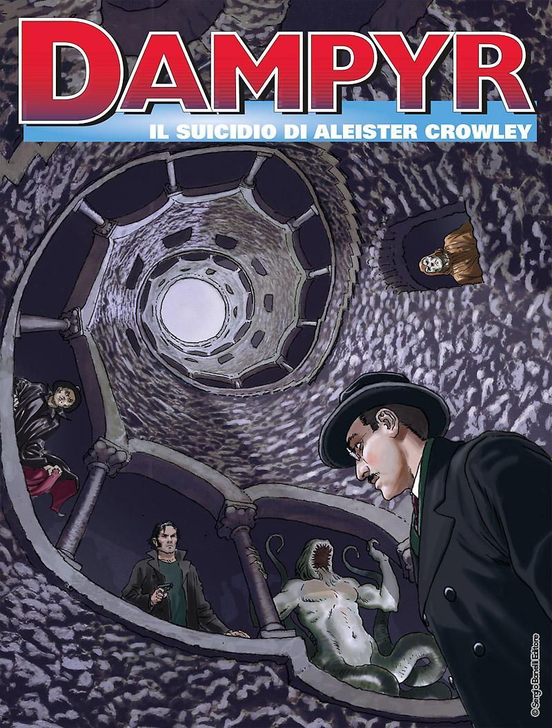 Dampyr 222: Il suicidio di Aleister Crowley, copertina di Enea Riboldi