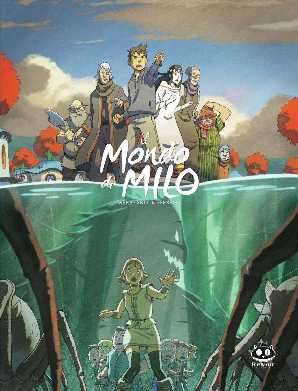 Il mondo di Milo vol. 2, copertina di Christophe Ferreira