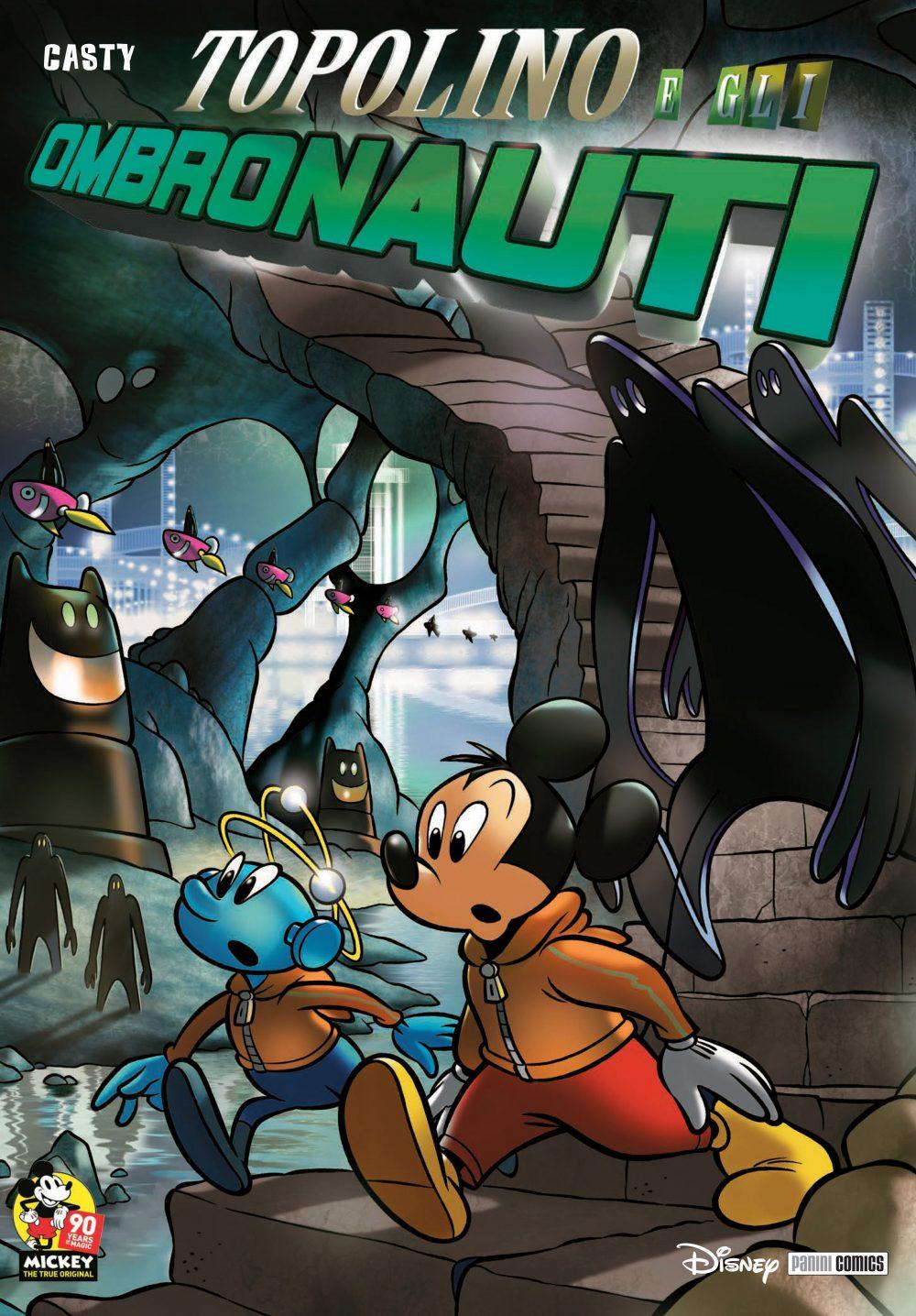 Topolino e gli Ombronauti, copertina di Casty