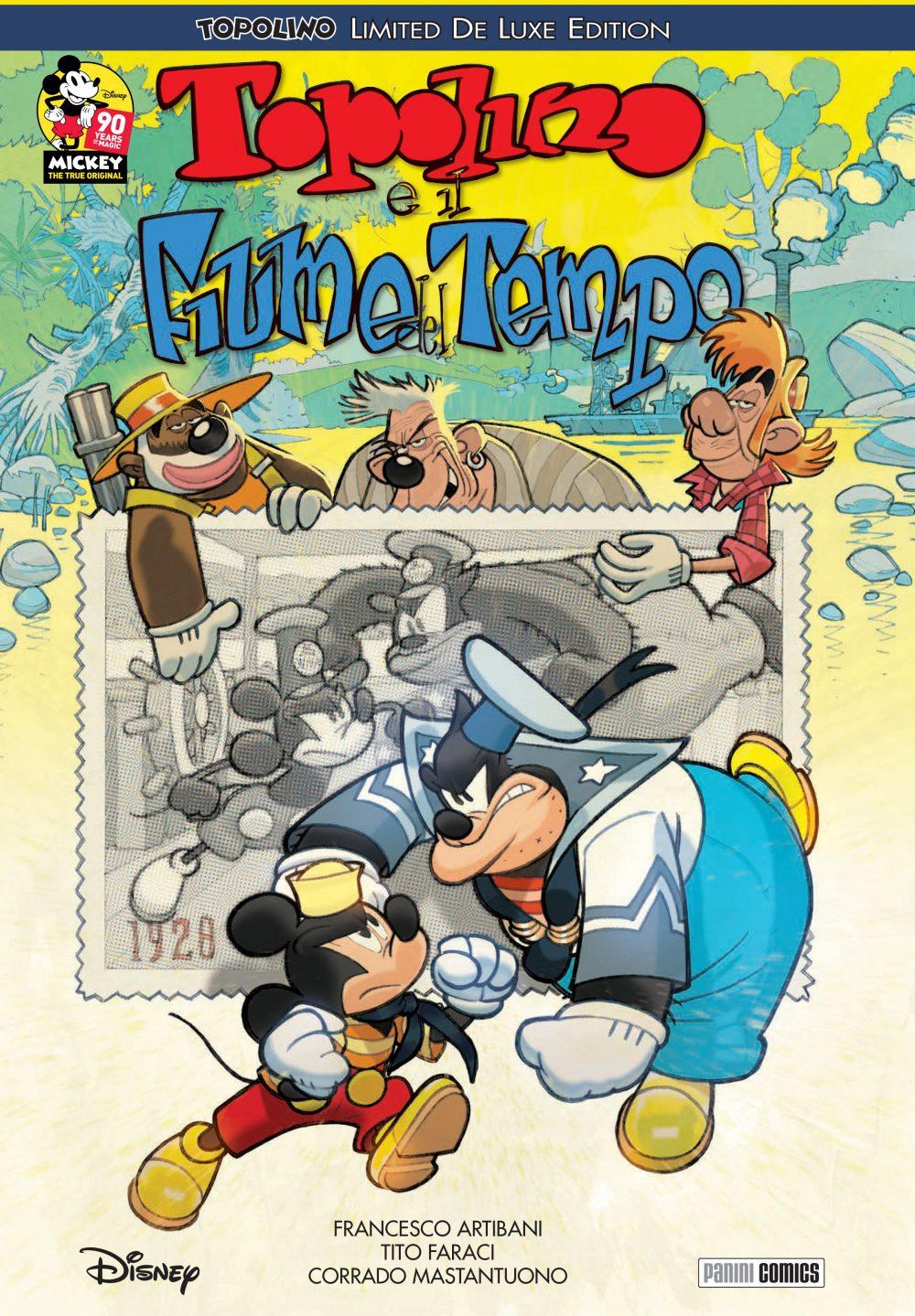 Topolino e il Fiume del Tempo, copertina di Corrado Mastantuono