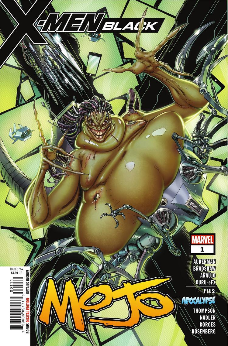 X.Men Black: Mojo #1, copertina di J. Scott Campbell