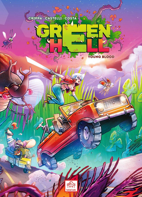 Green Hell: Young Blood, copertina di Francesco Castelli