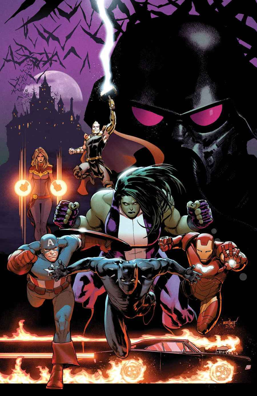 Avengers #14, copertina di David Marquez