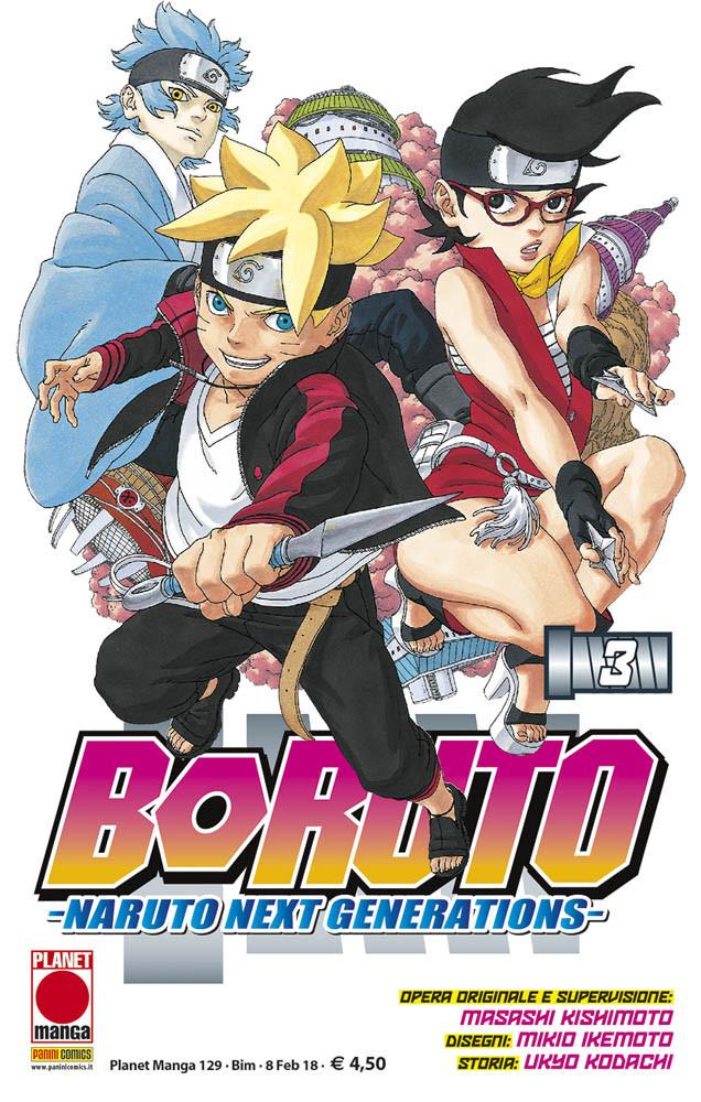 Boruto – Naruto Next Generations 3, copertina di Mikio Ikemoto