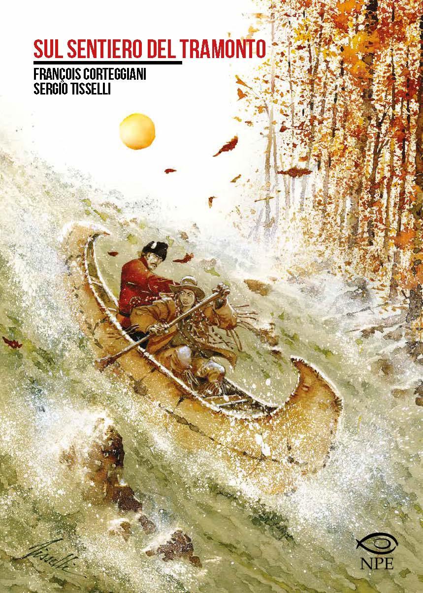 Sul sentiero del tramonto, copertina di Sergio Tisselli
