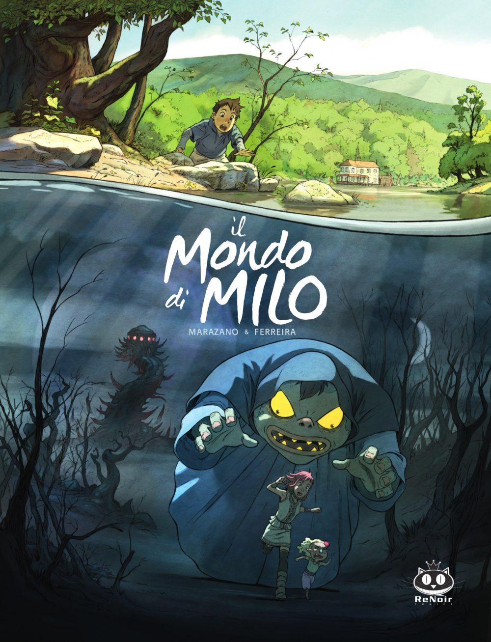 Il mondo di Milo vol. 1, copertina di Christophe Ferreira