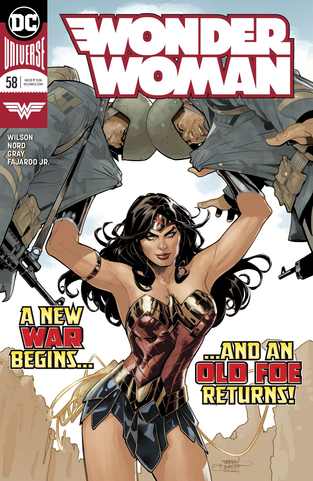 Wonder Woman #58, copertina di Terry Dodson