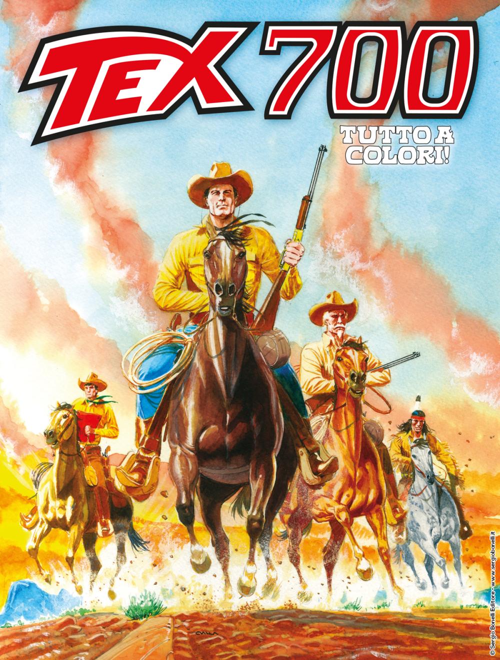 Tex 700: L'oro dei Pawnee, copertina di Claudio Villa