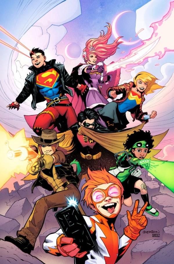 Young Justice #1, copertina di Patrick Gleason
