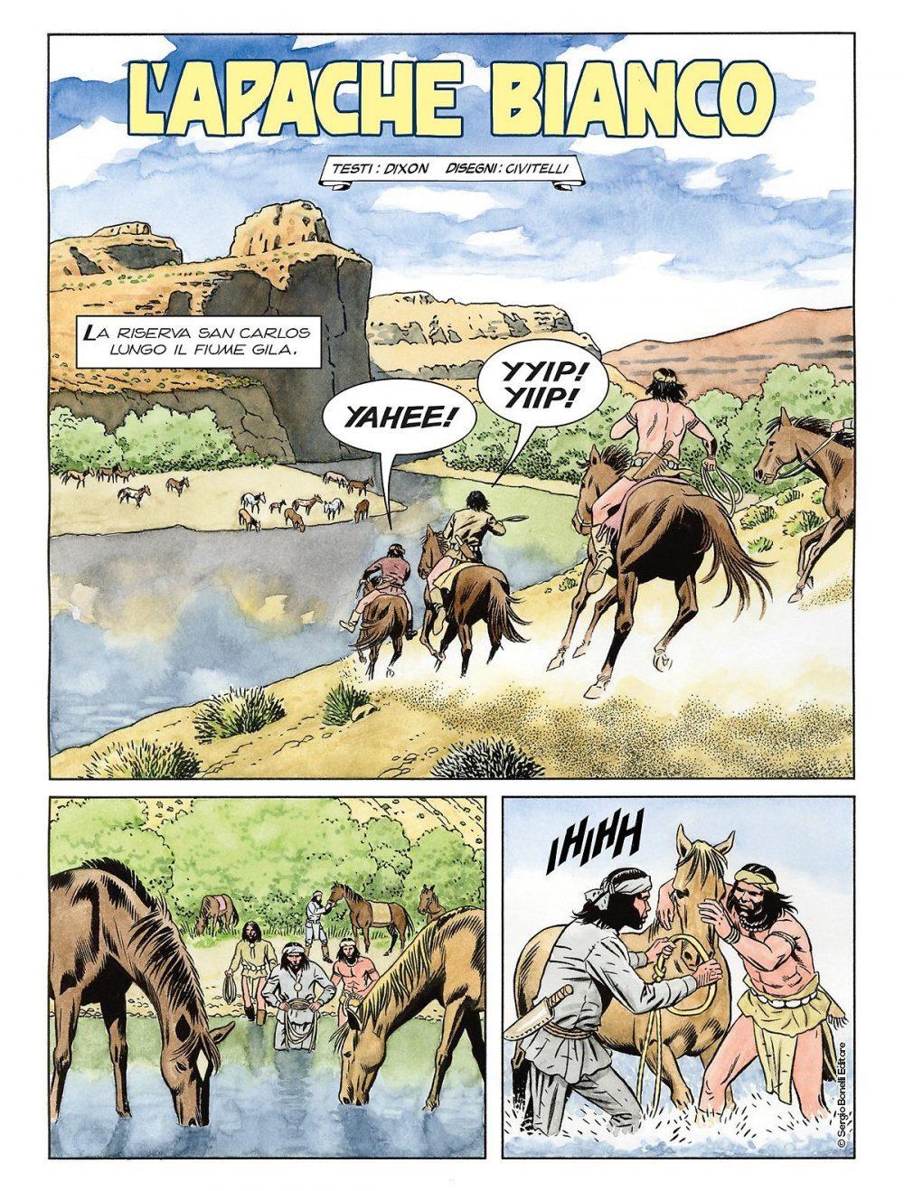 Color Tex 14: L'apache bianco e altre storie, anteprima 01