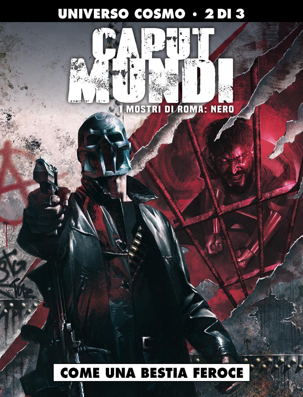 Caput Mundi – I mostri di Roma, Nero 2: Come una bestia feroce, copertina di Marco Mastrazzo