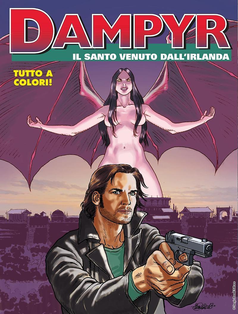 Dampyr 224: Il santo venuto dall'Irlanda, copertina di Enea Riboldi
